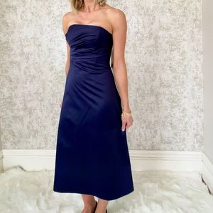 JS Boutique Satin Midi Dress